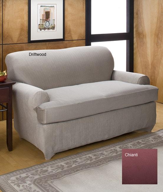 Spencer Stretch T Cushion Sofa Slipcover