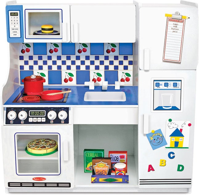 Melissa and Doug Deluxe Wooden Toy Kitchen Play Center