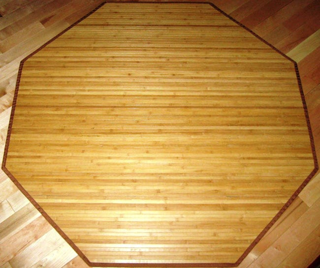 Shop Rayon From Bamboo Natural Area Rug 5 Octagon