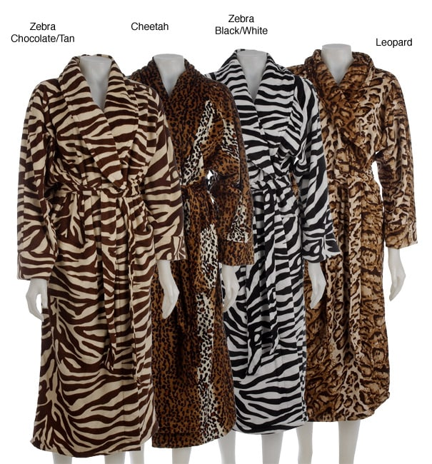 Shop Plush Animal Print Bath Robe - Free Shipping On Orders Over  45 -  Overstock - 3071746 dc5d47e22