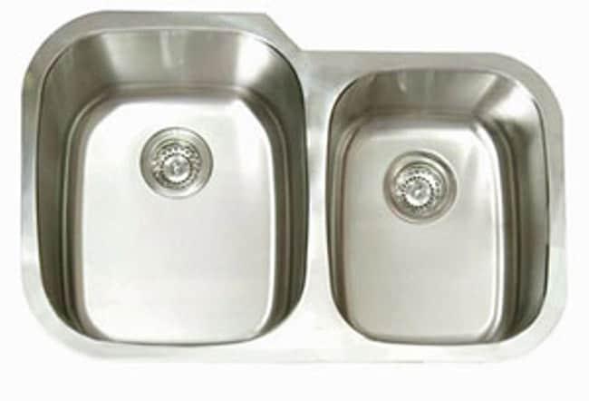 DeNovo Double Oval Stainless Steel Kitchen Sink