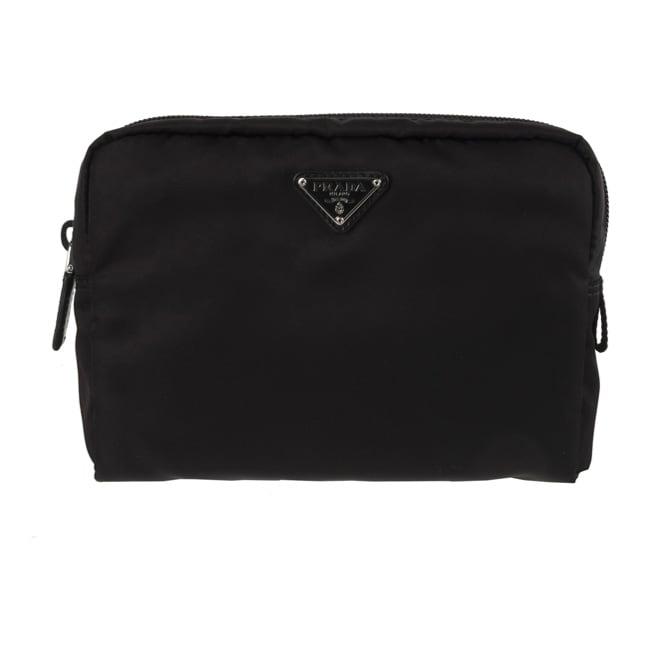 96f44e0f49627f Shop Prada Large Black Nylon Cosmetic Case - Free Shipping Today -  Overstock - 3079516