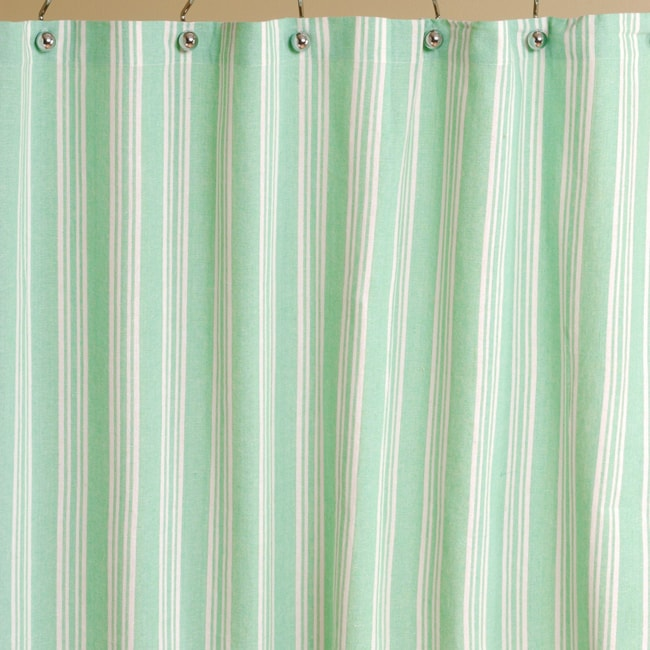 mint stripe cotton shower curtain free shipping on orders over 45