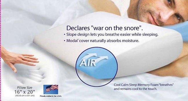 Memory Foam Slope Bed Pillow with Modal Cover