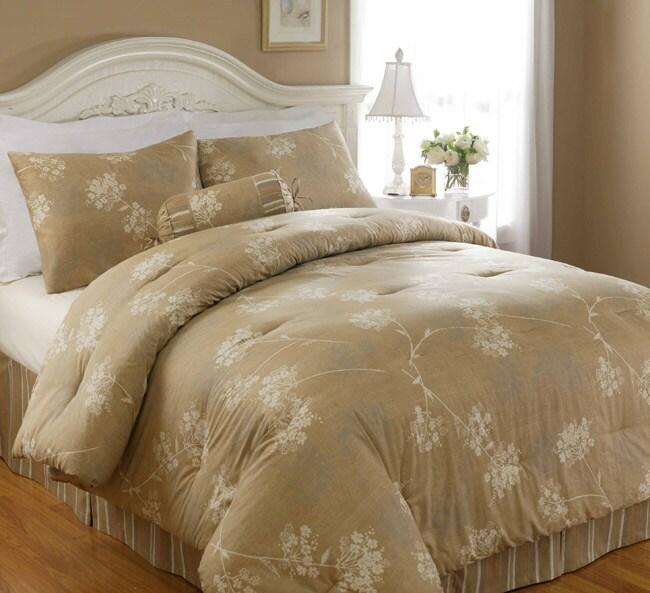 North Crest Home Silhouette Floral 4-piece Comforter Set