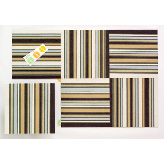 Basic Stripes Rug in a Box by FLOR (3' x 5')