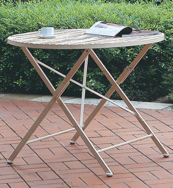 Round Iron Folding Table