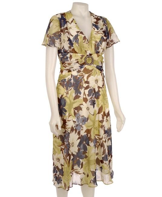 Sheri Martin New York Womens Floral Dress