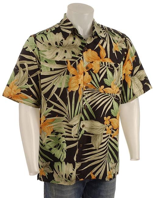 Caribbean Joe Men's Short -sleeve Hawaiian Shirt