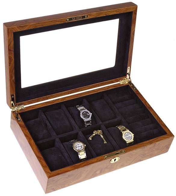 Tan 8-slot Watch Box