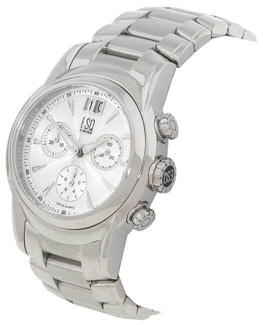 ESQ Quest Men's White Dial Chronograph Watch
