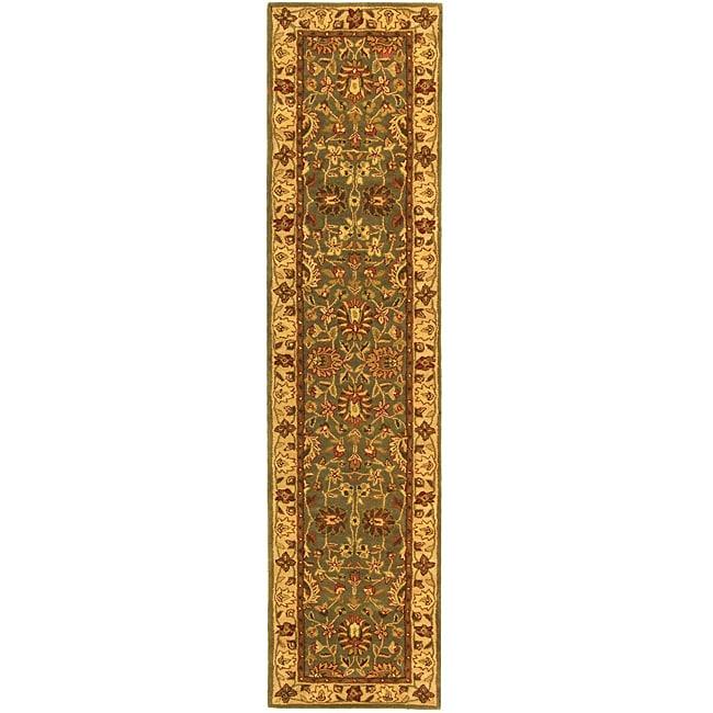 Safavieh Handmade Heritage Timeless Traditional Blue/ Beige Wool Runner Rug - 2'3 x 12'