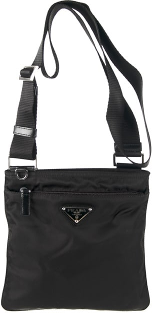 9322c23117a8 Shop Prada Women's Mini Nylon Flat Messenger Bag - Free Shipping Today -  Overstock - 3103663