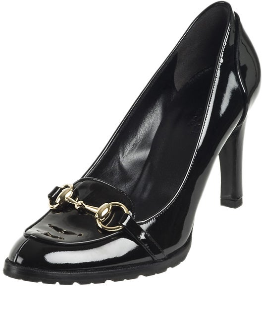 88091ec0b Shop Gucci Women's Black Patent Leather Horsebit Pumps - Free Shipping  Today - Overstock - 3108569