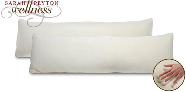 Sarah Peyton Memory Foam 50x18.5 Body Pillow (Set of 2)