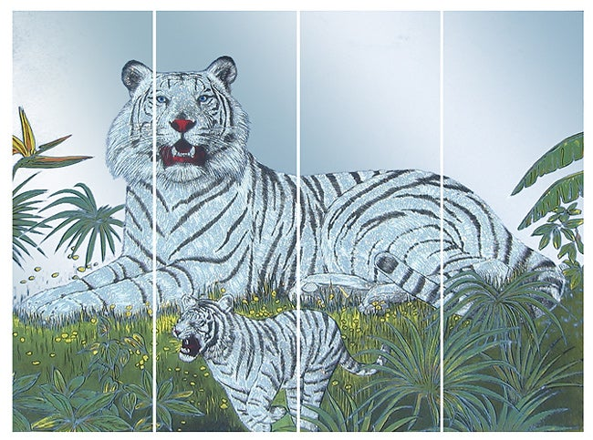 White Tiger Wall Mirror Free Shipping Today Overstock