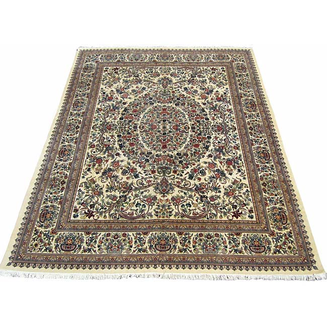 Shop Pak Persian Abusson Hand Knotted Rug 10 X 14 6 Free