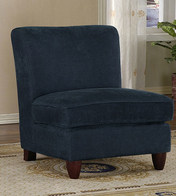 Navy Flair Slipper Chair Free Shipping Today Overstock