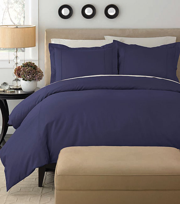Egyptian Cotton 350 Thread Count Solid Duvet Cover Set