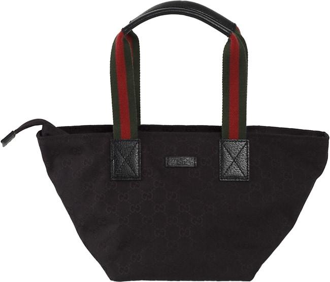 7c34d81529a Shop Gucci Small  GG  Logo Canvas Zip Tote Bag - Ships To Canada ...