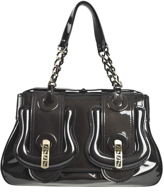 d783f0385c34 Shop Fendi Medium Patent B Buckle Bag - Free Shipping Today - Overstock -  3126553