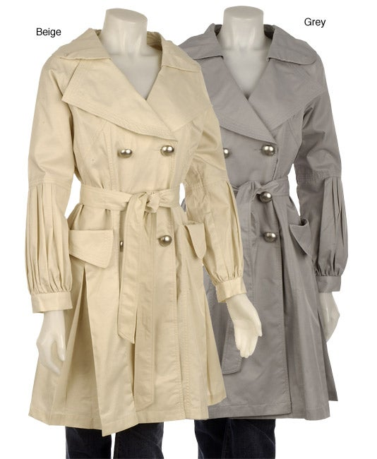 Vertigo Women's Double-breasted Belted Trench