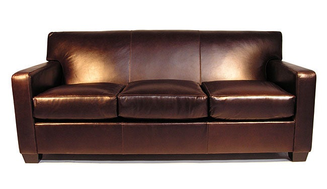 Dexter Leather Sofa: Free Shipping Today