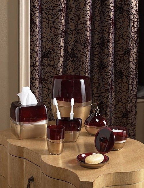 Croscill Hibiscus Bronze Shower Curtain - Free Shipping On Orders ...