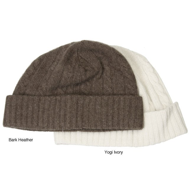 a00d3afd Shop Portolano Women's Cashmere Cable Knit Hat - Free Shipping On ...