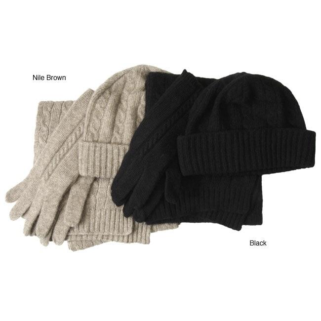 ae6eb288 Shop Portolano 3-piece Cashmere Glove Set - Free Shipping Today - Overstock.com  - 3131658