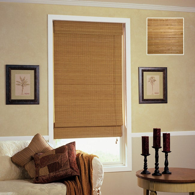 overstock roman shades arlo blinds nantucket bamboo roman shades 38 in 72 in shop free shipping