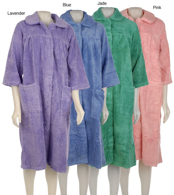 1e6992f85f Shop Soft Ones Women s Snap-front Chenille Bath Robe - Free Shipping On Orders  Over  45 - Overstock - 3140694