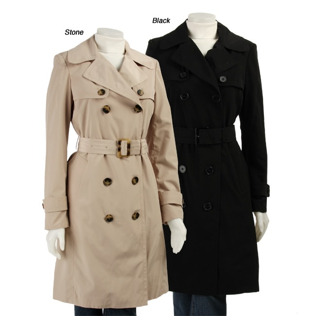 c78aaf850 Shop London Fog Women s Short Trench Coat - Free Shipping Today - Overstock  - 3140764