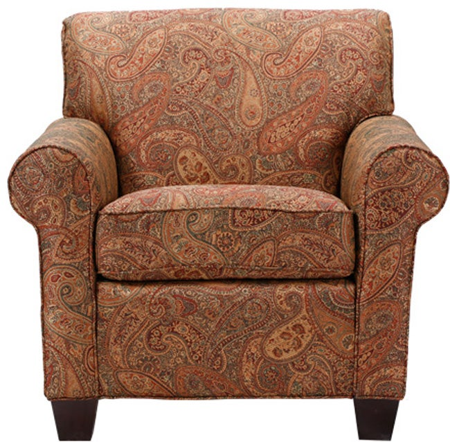Mira 8 Way Hand Tied Paisley Arm Chair Free Shipping
