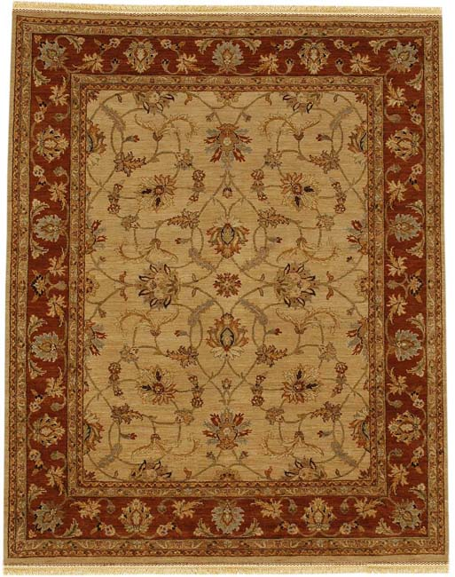 Hand-knotted Ollur Wool Rug (6' x 9')