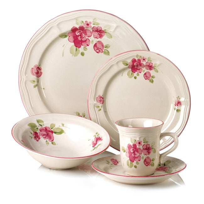 Gibson Roseland 20-Piece Dinnerware Set  sc 1 st  Overstock & Shop Gibson Roseland 20-Piece Dinnerware Set - Free Shipping Today ...