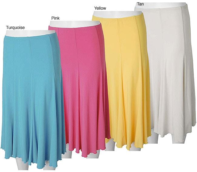 Adi Designs S. Max Women's Solid Mid-length Skirt