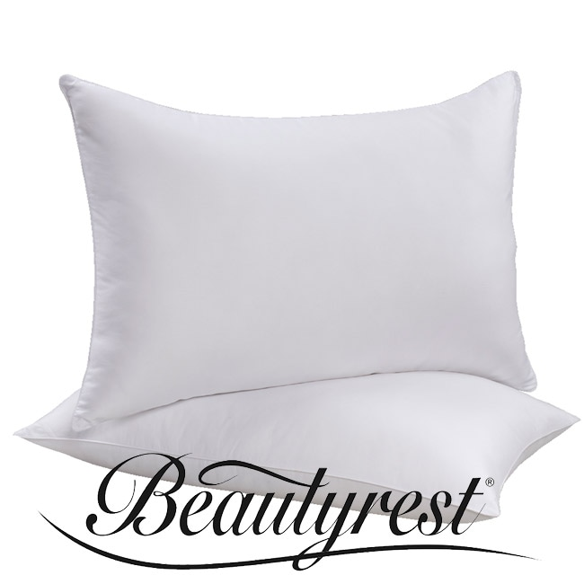 beautyrest 400 thread count down alternative pillows set of 2