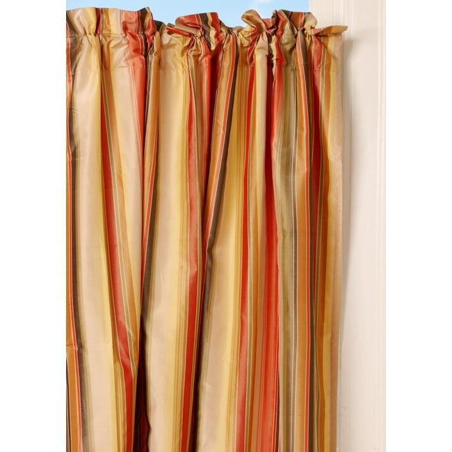 Multicolored Striped Taffeta Curtain (India)