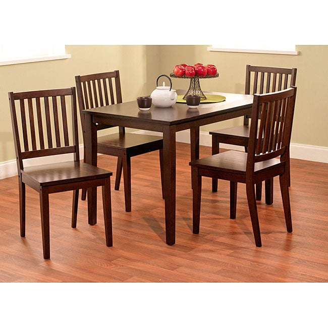 Simple Living Shaker 5 Piece Dining Set Free Shipping