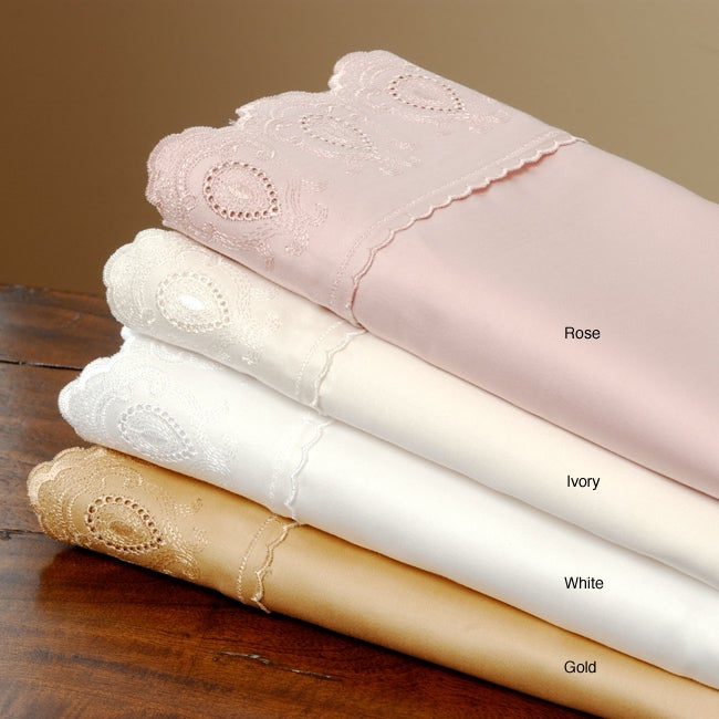 Anastasia 300 Thread Count Lace Pillowcases