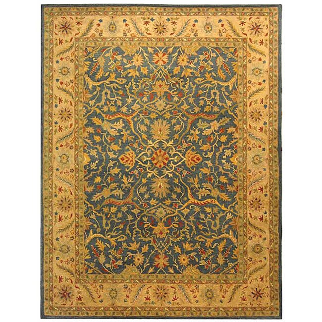 Safavieh Handmade Antiquities Mahal Blue/ Beige Wool Rug - 9'6 x 13'6