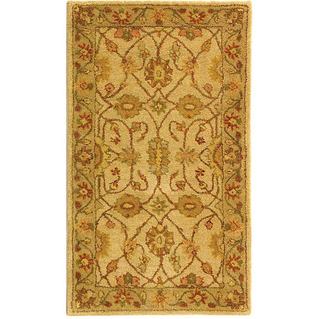 Safavieh Handmade Antiquities Kashan Ivory/ Beige Wool Runner (2'3 x 4')
