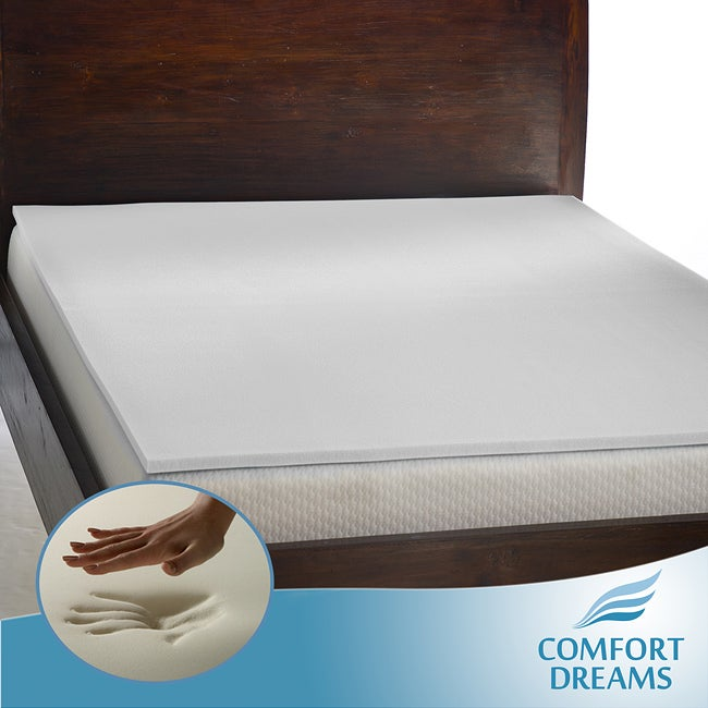 Comfort Dreams 'Mem-Cool' 1-inch Memory Foam Mattress Topper