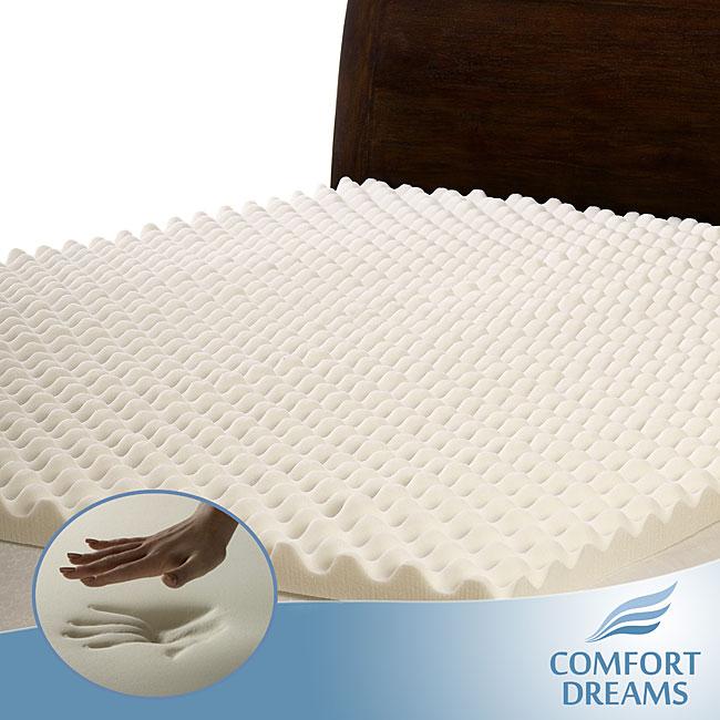 Serta Memory Foam 3-Inch Mattress Topper Slumber Solutions Highloft Supreme 3-inch Memory Foam Mattress Topper