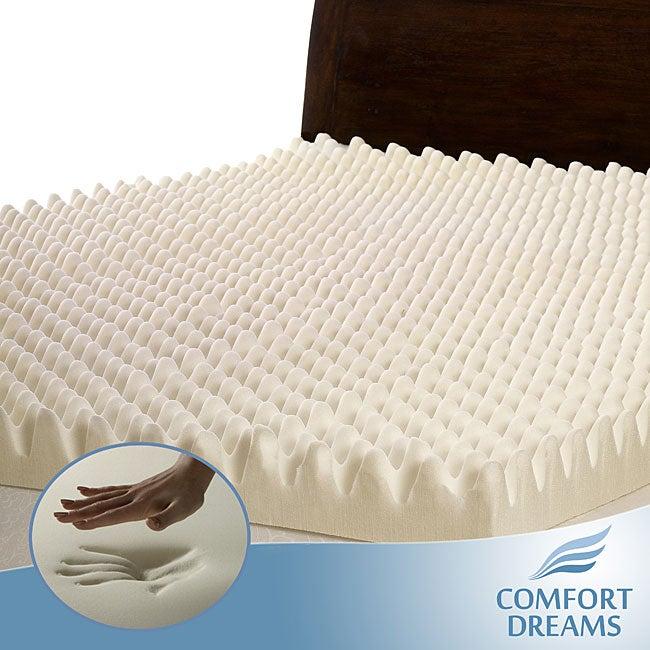 Comfort Dreams Highloft 4-inch Memory Foam Mattress Topper