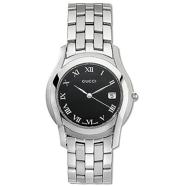 ae3a18f56e0 Shop Gucci 5505 Series Men s Quartz Watch - Free Shipping Today - Overstock  - 3174449
