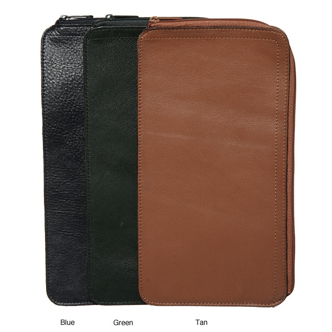 Royce leather zippered travel document pouch free for Document pouch for shipping