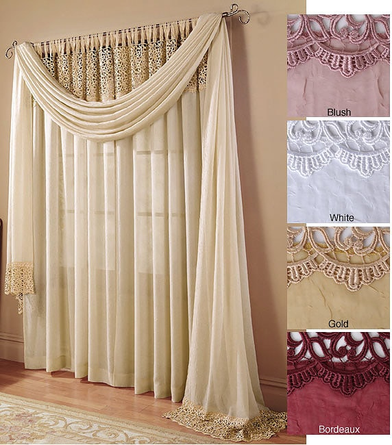 Tulip Macrame Window Treatments 3 Piece Set Free