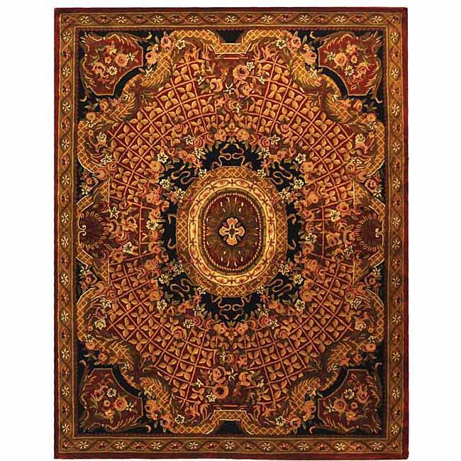 Safavieh Handmade Classic Empire Burgundy/ Black Wool Rug - 7'6 x 9'6